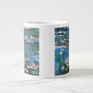 Waterlilies de Claude Monet impresionismo del vin Tazas Jumbo