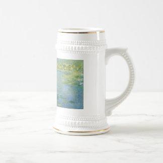 Waterlilies de Claude Monet Jarra De Cerveza