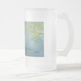 Waterlilies de Claude Monet Jarra De Cerveza Esmerilada