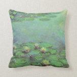 Waterlilies de Monet, impresionismo floral del Cojin
