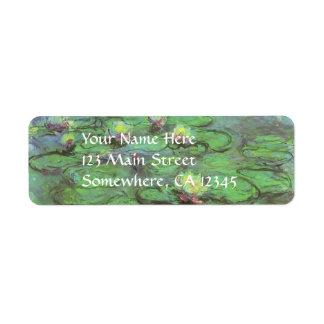 Waterlilies de Monet, impresionismo floral del Etiqueta De Remite