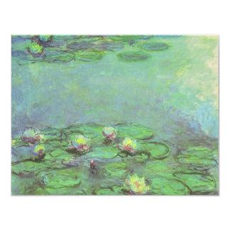 """Waterlilies de Monet, impresionismo floral del Invitación 4.25"""" X 5.5"""""""