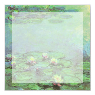 """Waterlilies de Monet, impresionismo floral del Invitación 5.25"""" X 5.25"""""""