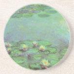 Waterlilies de Monet, impresionismo floral del Posavasos Cerveza