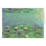 Waterlilies de Monet, impresionismo floral del Tarjeta