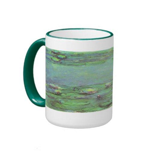 Waterlilies de Monet, impresionismo floral del vin Tazas