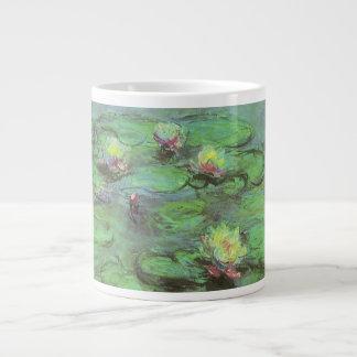 Waterlilies de Monet impresionismo floral del vin Tazas Jumbo