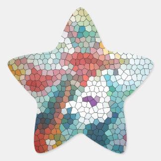 Waterlilies del mosaico del vitral del © P Calcomanías Forma De Estrellas