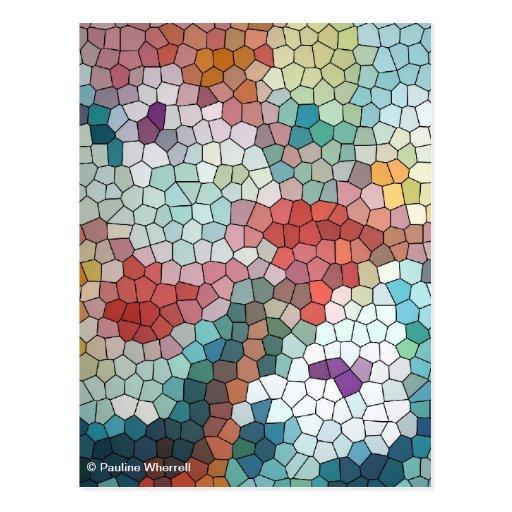 Waterlilies del mosaico del vitral del © P Tarjetas Postales