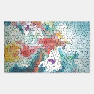 Waterlilies del mosaico del vitral del © P Wherrel Etiqueta