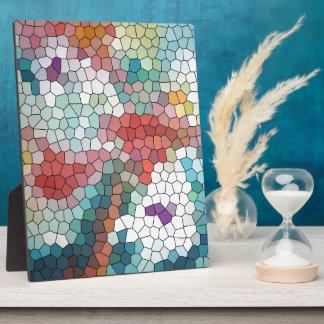 Waterlilies del mosaico del vitral del © P Wherrel Placa De Madera
