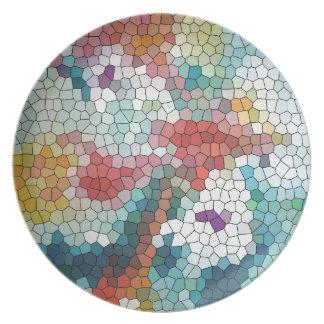 Waterlilies del mosaico del vitral del © P Wherrel Plato Para Fiesta