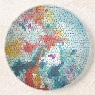 Waterlilies del mosaico del vitral del © P Wherrel Posavasos Diseño