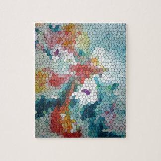 Waterlilies del mosaico del vitral del © P Wherrel Puzzles Con Fotos