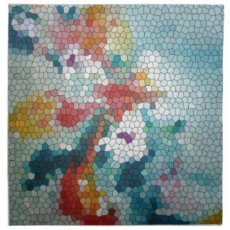 Waterlilies del mosaico del vitral del © P Wherrel Servilletas