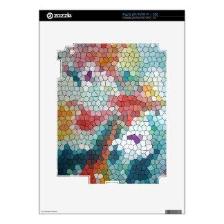 Waterlilies del mosaico del vitral del © P Wherrel Calcomanías Para iPad 2