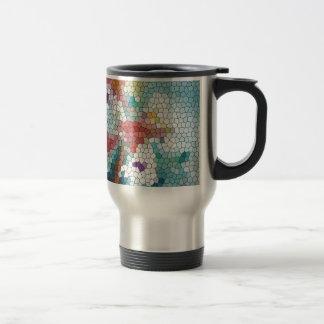 Waterlilies del mosaico del vitral del © P Wherrel Taza De Café