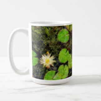 Waterlilies en el verano tazas de café