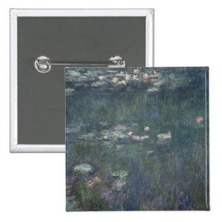 Waterlilies: Green Reflections, 1914-18 Pinback Button