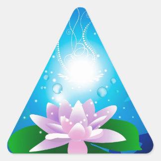 Waterlilies hermosos pegatina trianguladas personalizadas