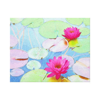Waterlilies Impresión En Lienzo