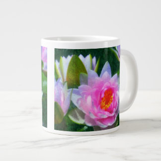 Waterlilies impresionista tazas jumbo