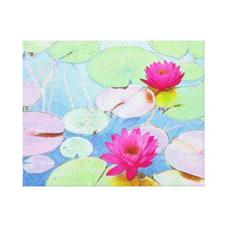 Waterlilies Lona Estirada Galerias