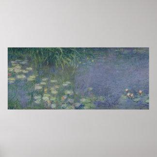 Waterlilies: Morning, 1914-18 Poster