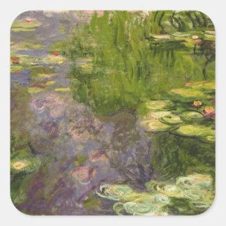 Waterlilies Pegatinas Cuadradases