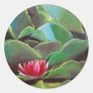 waterlilies etiquetas redondas