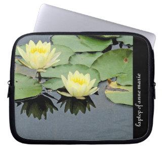 Waterlilies Personalized Laptop Sleeve