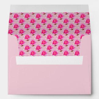 Waterlilies rosado en rosa claro sobres