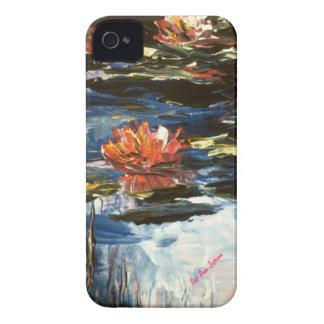 Waterlilies rosado, firma de Sue Ana Jackson iPhone 4 Case-Mate Coberturas