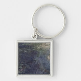 Waterlilies - The Clouds , 1914-18 Silver-Colored Square Keychain