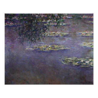 Waterlilies, Water Landcape by Claude Monet Poster