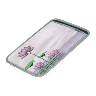Waterlilies y flores de loto rosados fundas para macbook air
