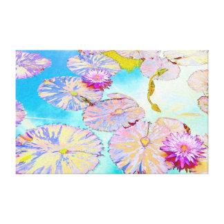 Waterlilies y Lilypads Lona Envuelta Para Galerías