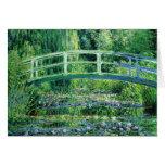 Waterlilies y puente japonés, tarjeta de Claude Mo