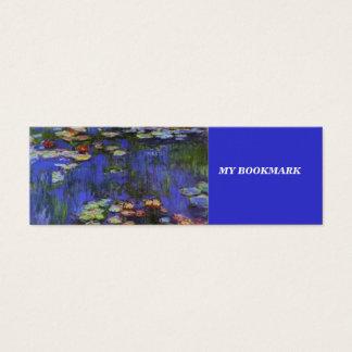 Waterlillies Bookmark Mini Business Card
