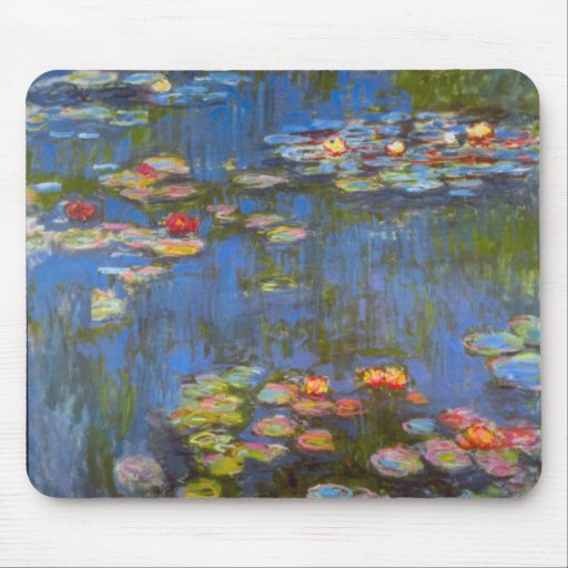 Waterlillies by Claude Monet Mouse Pad