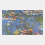 Waterlillies by Claude Monet Rectangular Stickers