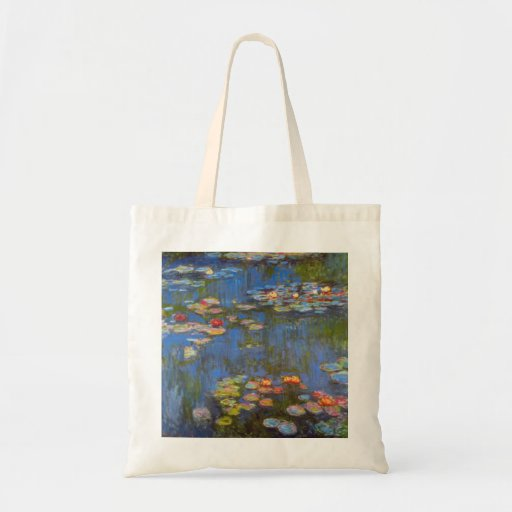 Waterlillies by Claude Monet Tote Bags