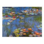Waterlillies de Claude Monet Postal