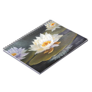 waterlillies spiral notebooks