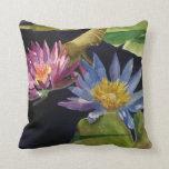 Waterlillies Throw Pillows