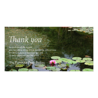 Waterlily 2 Peaceful garden Sympathy Thank You Card