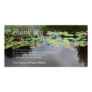 Waterlily 3 Peaceful Garden Sympathy Thank You Card