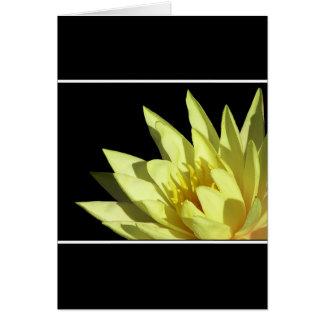 Waterlily amarillo Notecard Tarjeta Pequeña