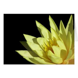 Waterlily amarillo tarjeta de felicitación
