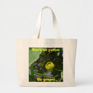 ¡Waterlily amarillo va verde! La bolsa de asas